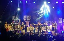 Els CDR de Tarragona, a l'escenari de Dr. Prats al concert de Santa Tecla de la plaça de la Font