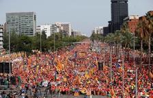 El comptador de la UAB avala la xifra del milió de manifestants de la Diada de l'Onze de Setembre