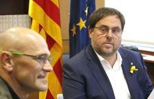 Imatge d'arxiu d'Oriol Junqueras i Raül Romeva.