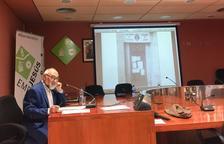 Pere Panisello durant la conferència institucional de l'11-S.