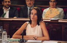 Bito Fuster durant el pregó a la sala de plens de l'Ajuntament.