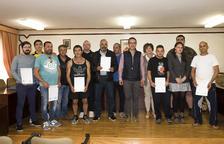 Entregats els diplomes del curs AEQT-AEST d'indústria química