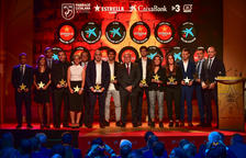 Todos los galardonados en la séptima Gala de las Estrellas de la Federación Catalana de Fútbol.