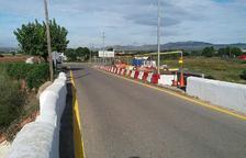 Imatge de les obres de la carretera d'accés a Santa Oliva.