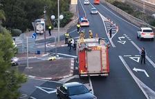 Mor un motorista després de topar contra un cotxe a l'N-340 a Cala Romana