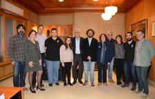 Josep Fèlix Ballesteros rep a les quatre colles castelleres a l'Ajuntament