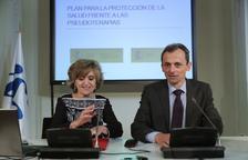 El ministre Pedro Duque i la ministra María Luisa Carcedo durant la presentació del Pla.