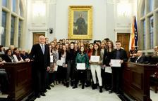 Imatge dels alumnes reconeguts a Reus.