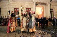 Imatge dels Reis d'Orient després de la Cavalcada de Reis a Reus.