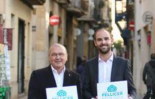 Carles Pellicer i Marc Just, amb la imatge de 'Pellicer 2019'.