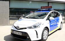 Imagen de archivo de un vehículo híbrido de la Guardia Urbana de Barcelona.
