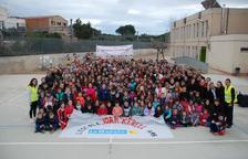 Imatge de la 7a Caminada Solidària organitzada per l'AMPA de l'Escola Joan Rebull.