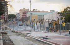 Calles sin luz en el barrio de Centcelles por unas obras