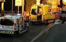 La Policia Local ha tallar la circulació una estona de la carretera Barcelona.