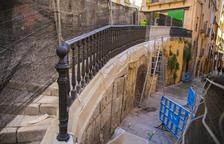 L'Ajuntament de Tarragona enllesteix la barana de la Baixada de Misericòrdia