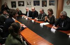 Agents socioeconòmics de la Terra Alta traslladen a Torra el seu rebuig pels nous projectes eòlics