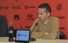 Imagen del técnico Xavi Bartolo durante su comparecencia.