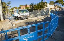 Empiezan las obras de drenaje de aguas de lluvia en la calle Montsià de la Móra