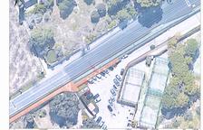 Imagen de uno de los planos que proyectan como quedará la acera de la carretera de Cambrils.