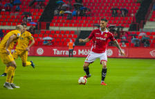Tete Morente, durante el Nàstic-Alcorcón de esta temporada, disputado el 15 de octubre y que finalizó 1-3 a favor de los madrileños.