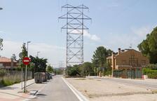 Una imagen de archivo de la línea de alta tensión que atraviesa esta zona.