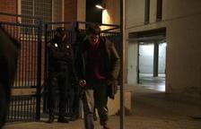 El fotoperiodista Carles Palacio després de sortir en llibertat.