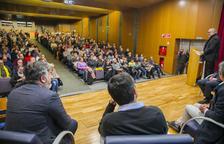 Eduard Pujol, durant la seva intervenció en l'acte de presentació de la Crida a Tarragona.