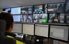 Imatge de la sala de control de la Guàrdia Urbaba.