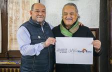 Francesc Ferreres i Ángel Juárez, ahir durant la presentació dels Àpats de Mediterrània al Solric.