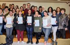 El Ayuntamiento de Constantí entrega los diplomas de los cursos de formación ocupacional