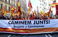 SCC convoca una «gran manifestació» constitucionalista per al 27 d'octubre per «dir prou a la violència i al procés»