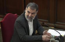 Jordi Cuixart durante su declaración por el 1-O en el Tribunal Supremo.