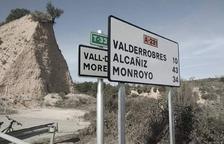 Aragó tapa la informació viària en català a la frontera administrativa a Arnes i el Govern la retira