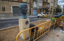 Constantí instal·la el bust dedicat a l'emperador que li dona nom al poble