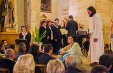 Sant Llorenç s'omple per veure les escenes de 'La  Passió d'Albinyana'