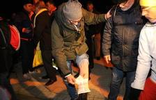 Denuncian la actuación de los Mossos contra manifestantes en Mas d'Enric durante el traslado de Forcadell