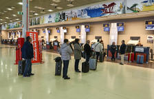 El vuelo del Imserso en Menorca fue lo único que se operó ayer a las instalaciones reusenses.