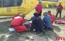 Rescaten un escalador ferit a la Cova de la finestra a Margalef