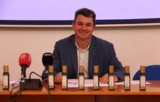 El presidente de la DOP Siurana, Antoni Galceran, en la presentación de los resultados de la campaña.