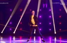 Imatge d'Iván Santander durant l'actuació.
