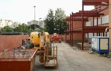 La estructura que sostendrá la nueva parte del equipamiento ya ha sido colocada.