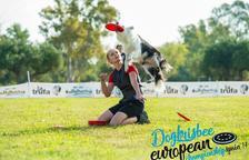 En la competición los perros hacen acrobacias con sus propietarios.