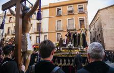 Els Natzarens celebren el tradicional viacrucis a Sant Francesc