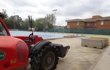 Esta semana se han iniciado trabajos preparatorios como la limpieza y el marcaje de los espacios que ocupará el polideportivo.