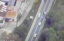 Captura del vídeo que ha hecho público Tráfico.