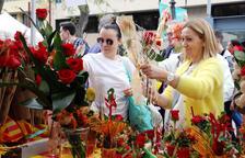Els catalans compraran 7 milions de roses i 1,5 milions de llibres per Sant Jordi
