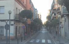 Imagen de la calle Xile de Badalona, donde han tenido lugar los hechos.