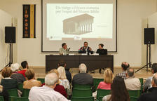 El Museu Bíblic muestra en 3D una exedra y el porticado del recinto de culto