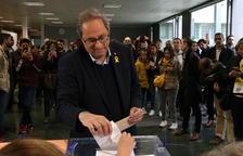 Torra: «El dret a vot i la democràcia es guanyen votant»