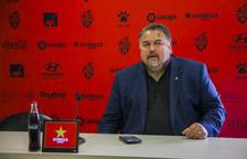 Clifton Onolfo en una rueda de prensa en las instalaciones del CF Reus Deportiu.